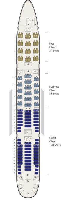 Aircraft 77L Saudi Airlines Seat Map   Flight Check-in