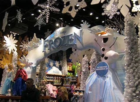 Winter comes early to NYC as the Times Square Disney Store