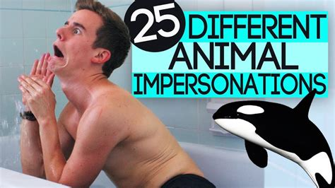 25 Different Animal Impersonations - YouTube