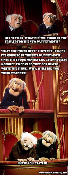 Funny Statler and Waldorf Joke   wow that's funny