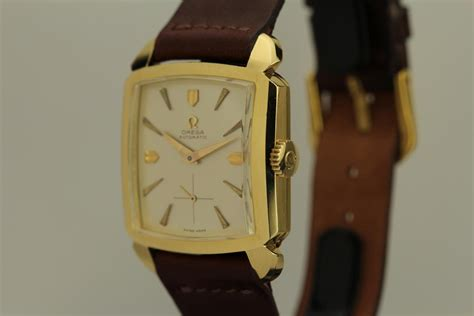 1950 Omega Oversized Square Ref 3950 Watch For Sale - Mens