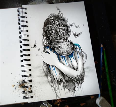25 Attractive Sketchbook Art by Pierre Yves Riveau   The