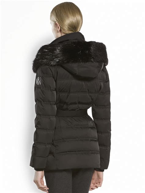 Gucci Furtrimmed Hooded Puffer Jacket in Black - Lyst
