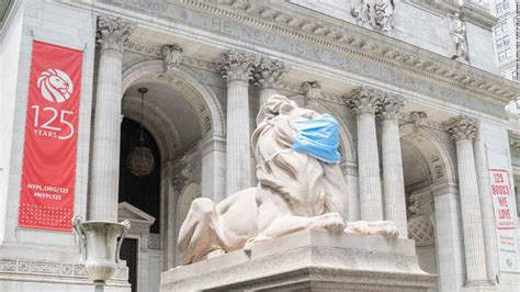 The New York Public Library's iconic lion statues are