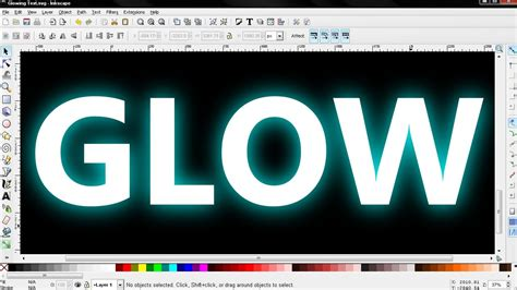 Glowing Text Effect - Inkscape Tutorial - YouTube