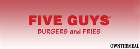 Five Guys Menu Prices 2017   Meal Items, Details & Cost