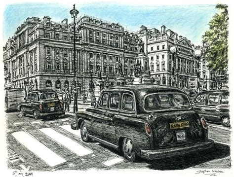 London Taxi - Original drawings, prints and limited