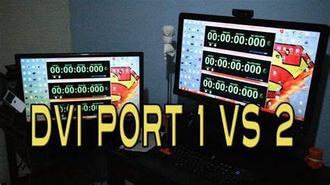 Does it really matter which DVI Port you use? Testing DVI
