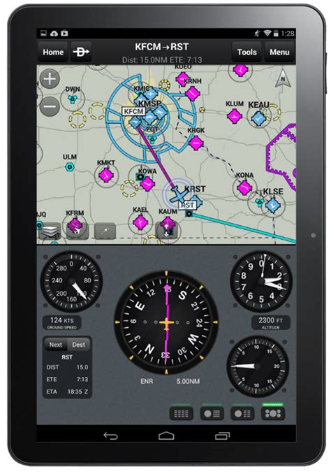 Garmin Pilot for Android adds new map features - iPad