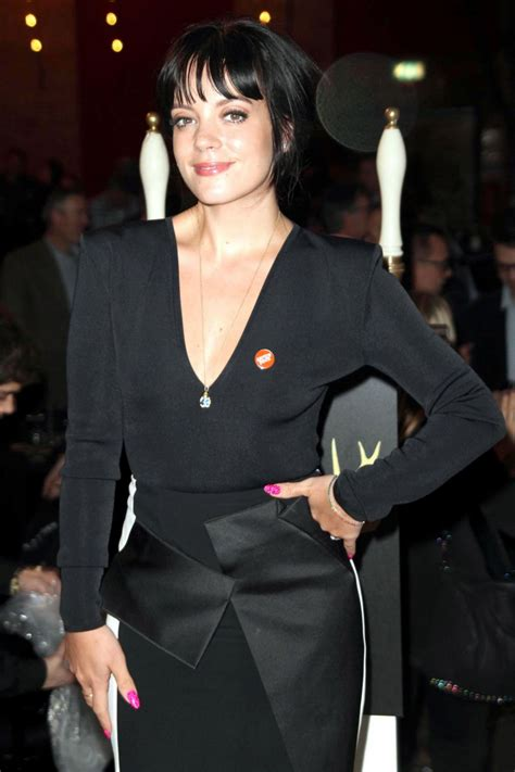 Lily Allen Wearing Roland Mouret Dress at the Ultimate Pub