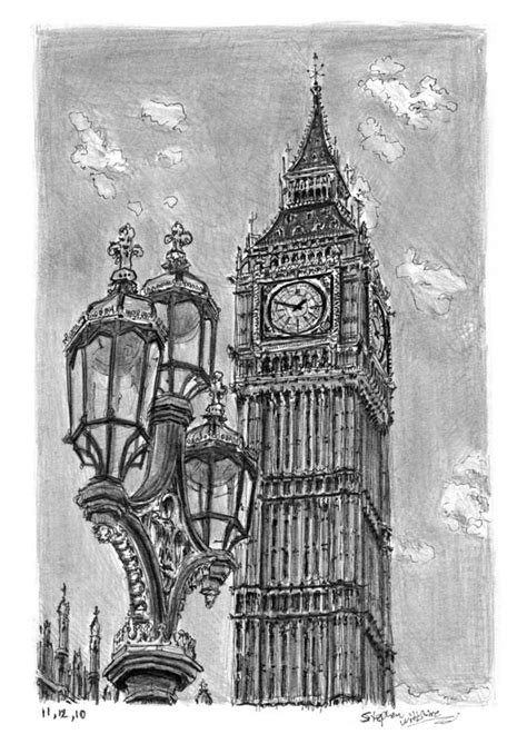 Big Ben - Drawings, prints and limited editions by Stephen