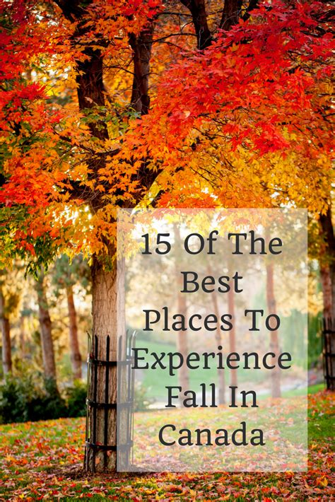 Fall In Canada: 15 Of The Best Places To Experience Autumn