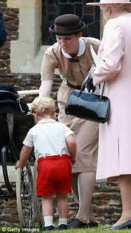 Kate Middleton's guard and Prince George's nanny on duty