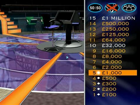 Who Wants To Be A Millionaire: UK Edition Screenshots for