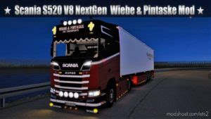 ETS2: Download Scania S520 V8 2017 Real Sound By