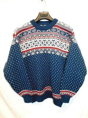 Icewear Iceland M Mens Blue White Red Wool Sweater Nordic