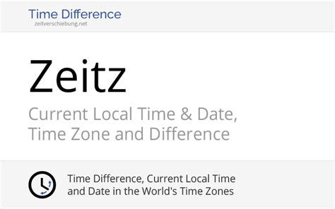 Current Local Time in Zeitz, Germany (Saxony-Anhalt): Date