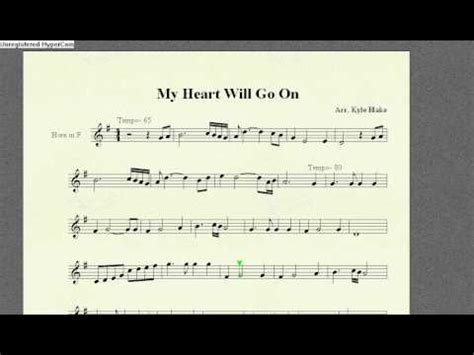 My Heart Will Go On- French Horn Solo - YouTube