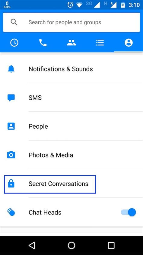 How To Encrypt Your Facebook Messenger And Send Self