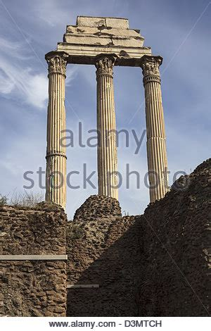 Three columns remaining from the Temple of Castor and