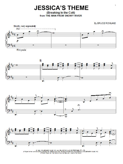 Jessica's Theme (Breaking In The Colt)   Sheet Music Direct