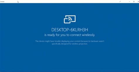 Use Windows 10 Anniversary's Connect App to Cast Your