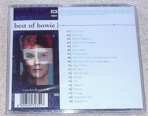 DAVID BOWIE Best of Bowie SOUTH AFRICA Cat# CDEMCJ (WF