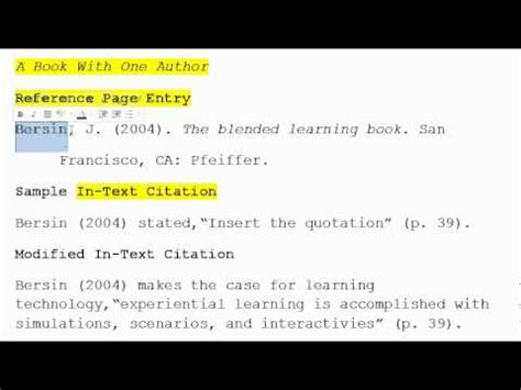 How to use APA Format for Citation No