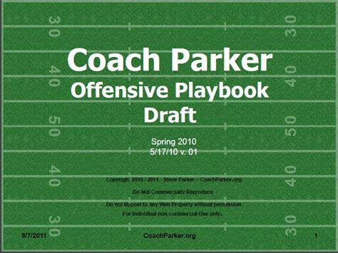 Youth Football Playbook eBook by Coach Parker   Coaching