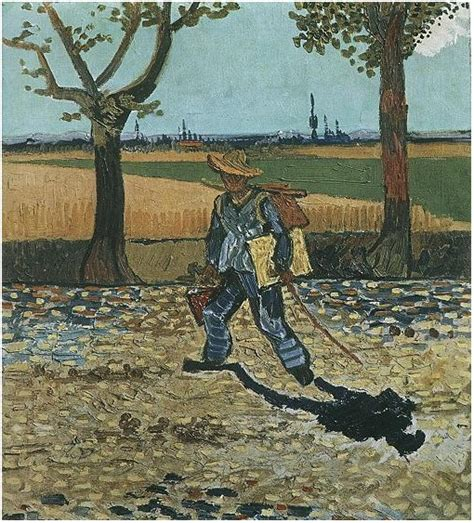 Painter on His Way to Work, The by Vincent Van Gogh - 374